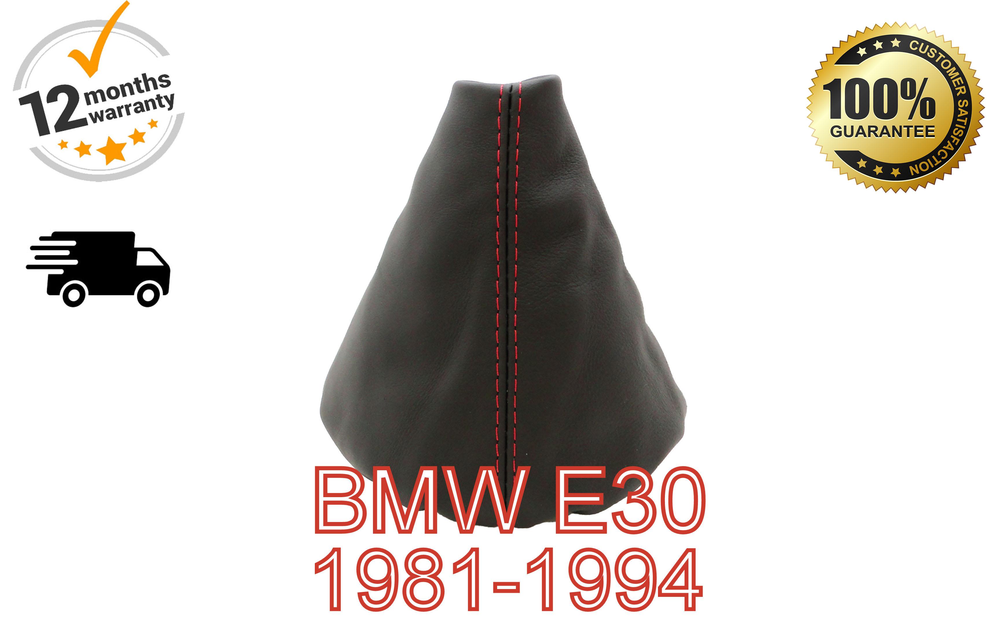 Adatto a BMW E30 3 pelle rossa GEAR SHIFT Boot Ghetta NUOVO