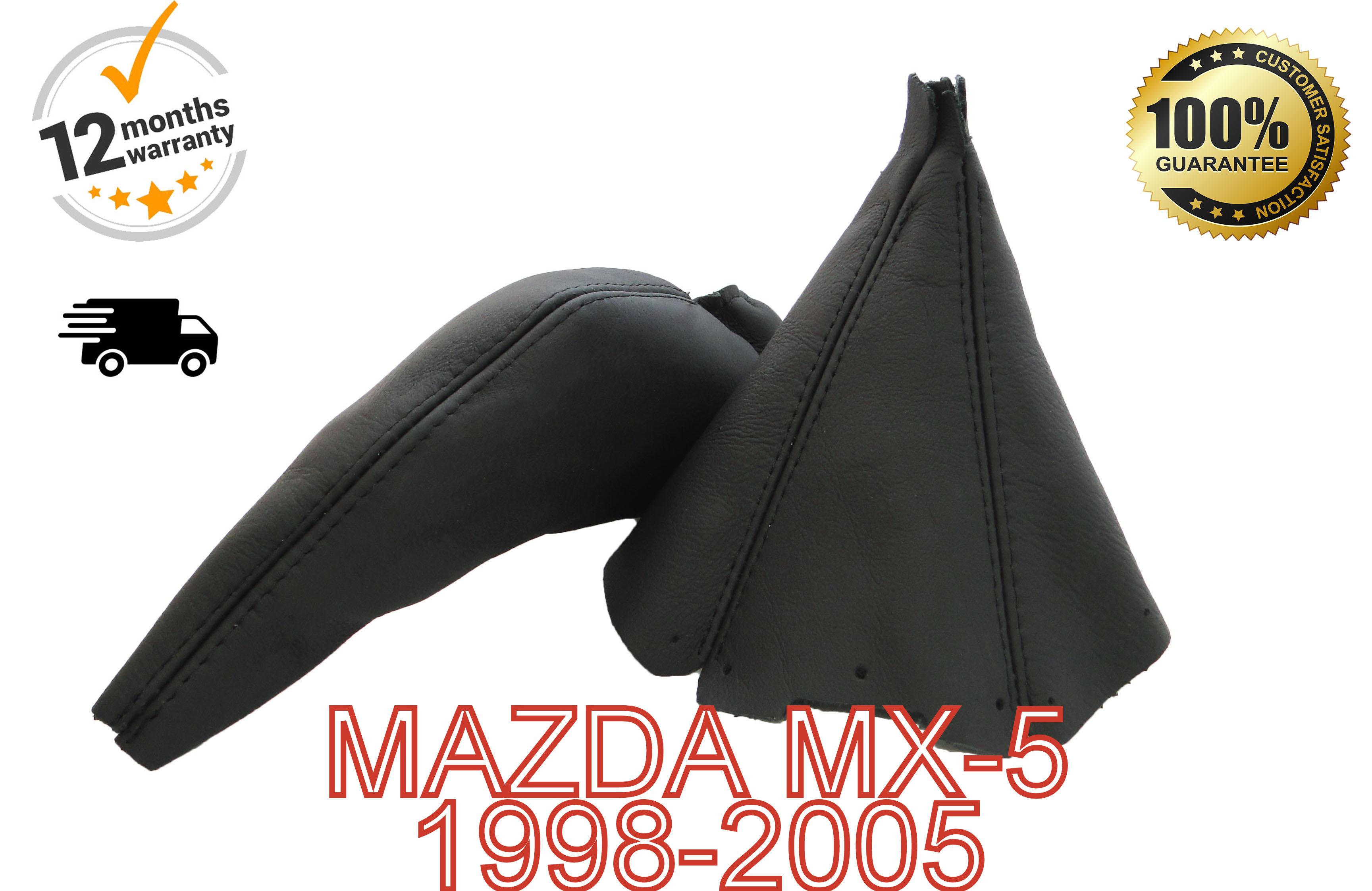 FITS MAZDA MX5 MK1 MK2 RED HANDBRAKE GAITER GENUINE LEATHER