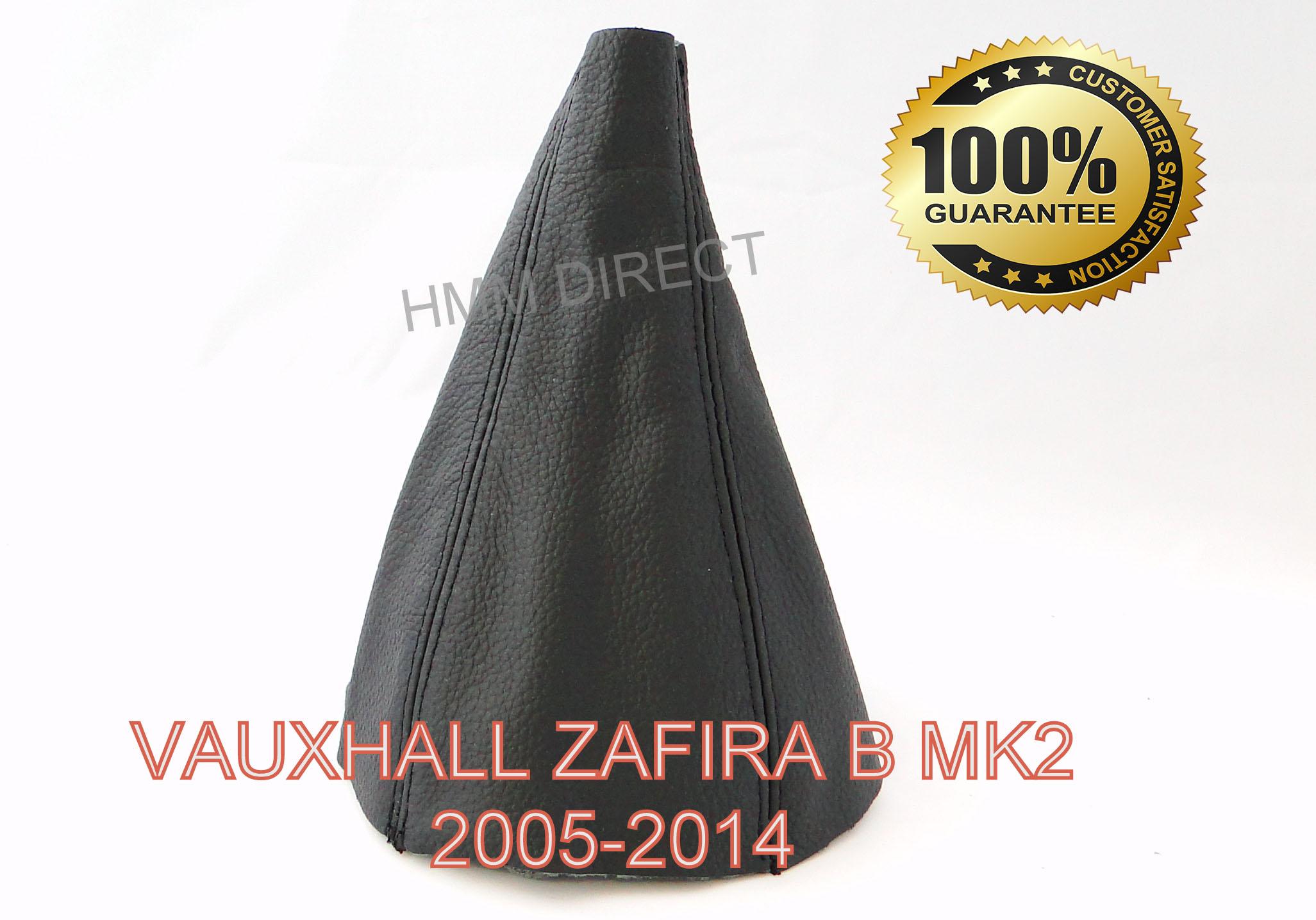 VAUXHALL ZAFIRA B MK2 2005-2014 GENUINE LEATHER GEAR GAITER-White Stitch